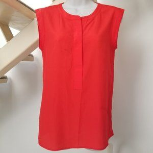 J Crew Sleeveless Blouse Poppy Red Size 0 XS
